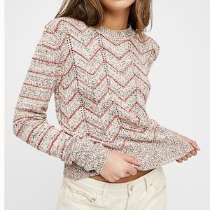 Free People Zig Zag Pullover Sweater XS